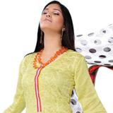 Send Refreshing Yellow Cotton Salwar Kameez  to Chennai