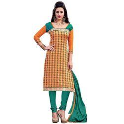 Send Exuberant Radiance Chanderi Salwar Suit to Chennai