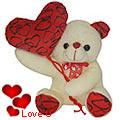 Heart Rendering Baby Balloon Bear