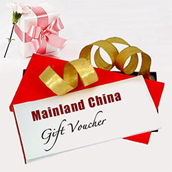 Send Mainland China Gift Vouchers To Chennai.