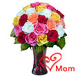 24 Mixed Roses in Vase- for the Wonder Women