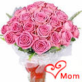 Fresh 30 Pink Roses Bouquet