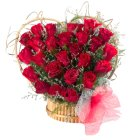 Special Arrangement of 24 Red Roses Heart Shaped to Chennai.