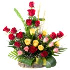 Special Arrangement of 24 Mixed Roses to Chennai.