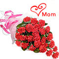 Mothers Day Red Carnations Bouquet to Chennai
